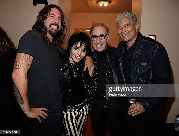 Dave Grohl, Joan Jett, Kenny Laguna and Pat Smear attend the 30th Annual Rock And Roll Hall Of Fame Induction Ceremony at Public Hall on April 18,...