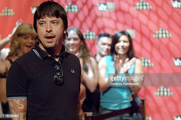 Dave Grohl of Foo Fighters and fans during 2006 VH1 Rock Honors Arrivals at Mandalay Bay Hotel and Casino in Las Vegas Nevada United States