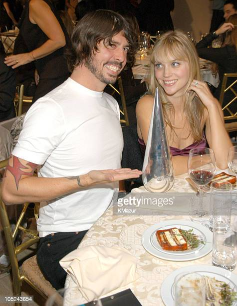 Dave Grohl of Foo Fighters and wife Jordyn Blum during Spike TV Presents the 2003 GQ Men of the Year Awards Audience at The Regent Wall Street in New...
