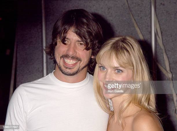 Dave Grohl of Foo Fighters and wife Jordyn Blum during Spike TV Presents The 2003 GQ Men of the Year Awards Arrivals at The Regent Wall Street in New...