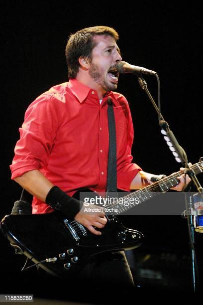Dave Grohl of Foo Fighters during Rock in Rio IV Day 3 at Belavista Park in Lisbon Belavista Park Portugal