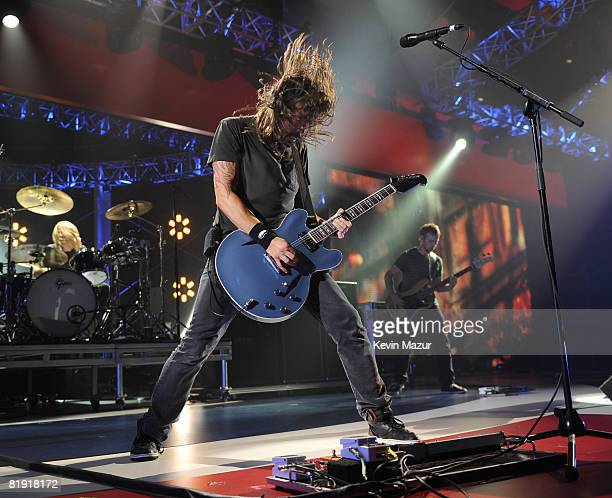 Dave Grohl of Foo Fighters perform at the 2008 VH1 Rock Honors honoring The Who at UCLA's Pauley Pavilion on July 12 2008 in Los Angeles California