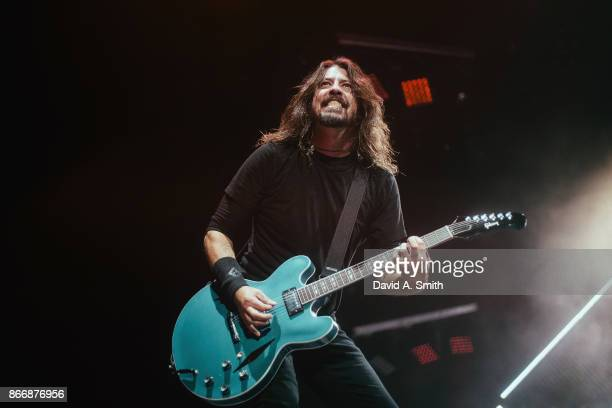 Dave Grohl of Foo Fighters performs at Legacy Arena at the BJCC on October 26 2017 in Birmingham Alabama