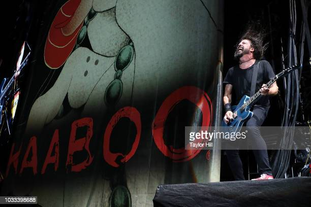 Dave Grohl of Foo Fighters performs during the 2018 KAABOO Del Mar Festival at Del Mar Fairgrounds on September 14 2018 in Del Mar California