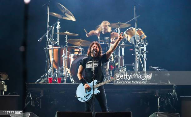 Dave Grohl of Foo Fighters performs during the Rock in Rio 2019 at Cidade do Rock on September 28 2019 in Rio de Janeiro Brazil