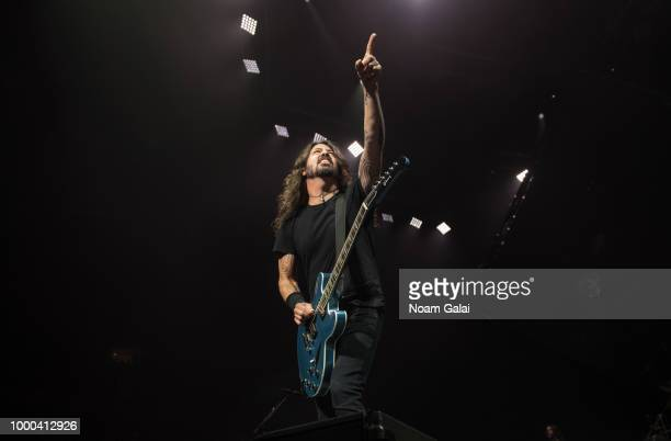 Dave Grohl of Foo Fighters performs in concert at Madison Square Garden on July 16 2018 in New York City