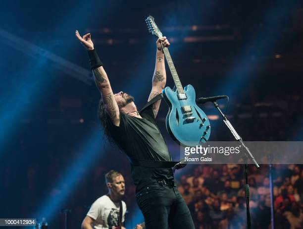 Dave Grohl of Foo Fighters performs in concert at Madison Square Garden on July 16, 2018 in New York City.