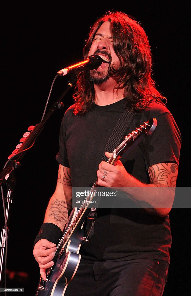 Dave Grohl of Foo Fighters performs live on stage at the Invictus Games Closing Concert at Queen Elizabeth Olympic Park on September 14, 2014 in London, United Kingdom.