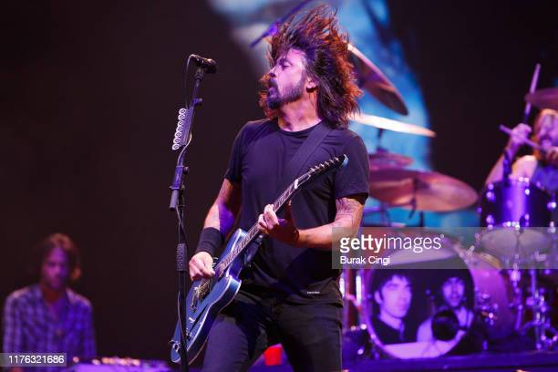 Dave Grohl of Foo Fighters performs live on the Main Stage during day three of Reading Festival 2019 at Richfield Avenue on August 25 2019 in Reading...