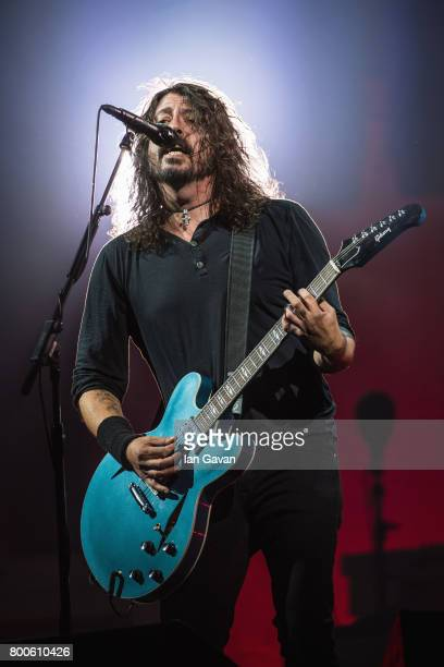 Dave Grohl of Foo Fighters performs on day 3 of the Glastonbury Festival 2017 at Worthy Farm Pilton on June 24 2017 in Glastonbury England