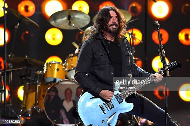 Dave Grohl of Foo Fighters performs onstage during MusiCares Person of the Year honoring Aerosmith at West Hall at Los Angeles Convention Center on...