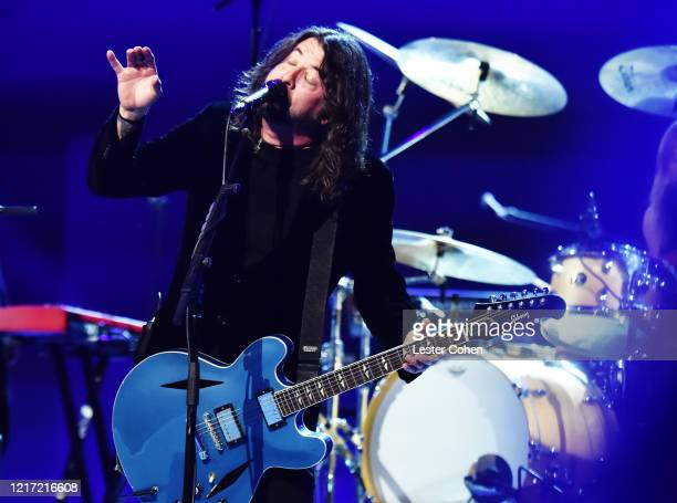 Dave Grohl of Foo Fighters performs onstage during the 62nd Annual GRAMMY Awards Let's Go Crazy The GRAMMY Salute To Prince on January 28 2020 in Los...