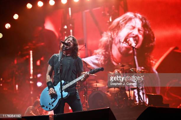 Dave Grohl of the band The Foo Fighters performs during the 2019 Bourbon & Beyond Music Festival at Highland Ground on September 20, 2019 in...