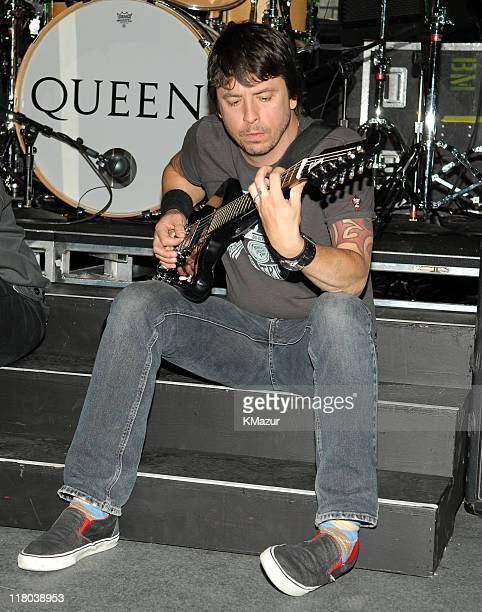 Dave Grohl of the Foo Fighters during 2006 VH1 Rock Honors Rehearsals Day One at Mandalay Bay Hotel and Casino in Las Vegas Nevada United States