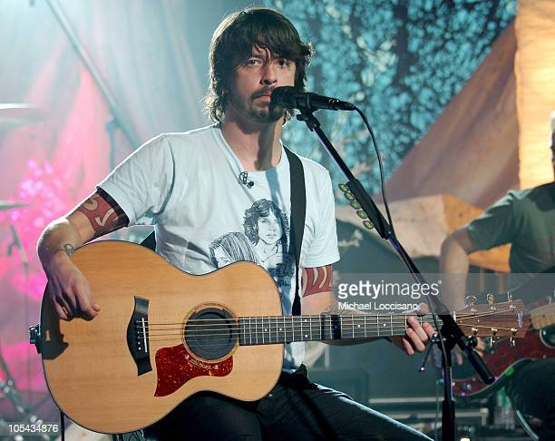 """Dave Grohl of the Foo Fighters during Foo Fighters Take Over MTV2 - """"24 Hours of Foo"""" - June 11, 2005 at MTV Building in New York City, New York,..."""