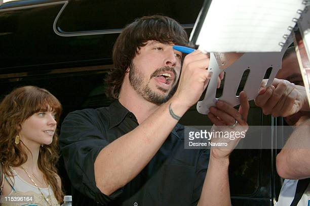 """Dave Grohl of The Foo Fighters during The Foo Fighters Visit """"The Late Show With David Letterman"""" - June 13, 2005 at Ed Sullivan Theatre in New York..."""