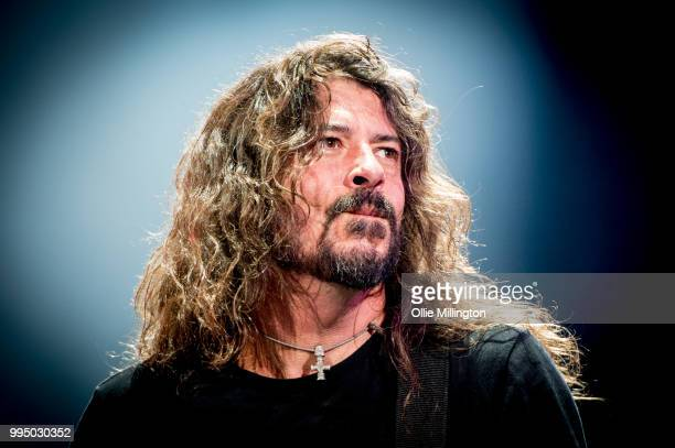 Dave Grohl of The Foo Fighters performs as the headliner on the mainstage at The Plains of Abraham in The Battlefields Park during day 5 of the 51st...