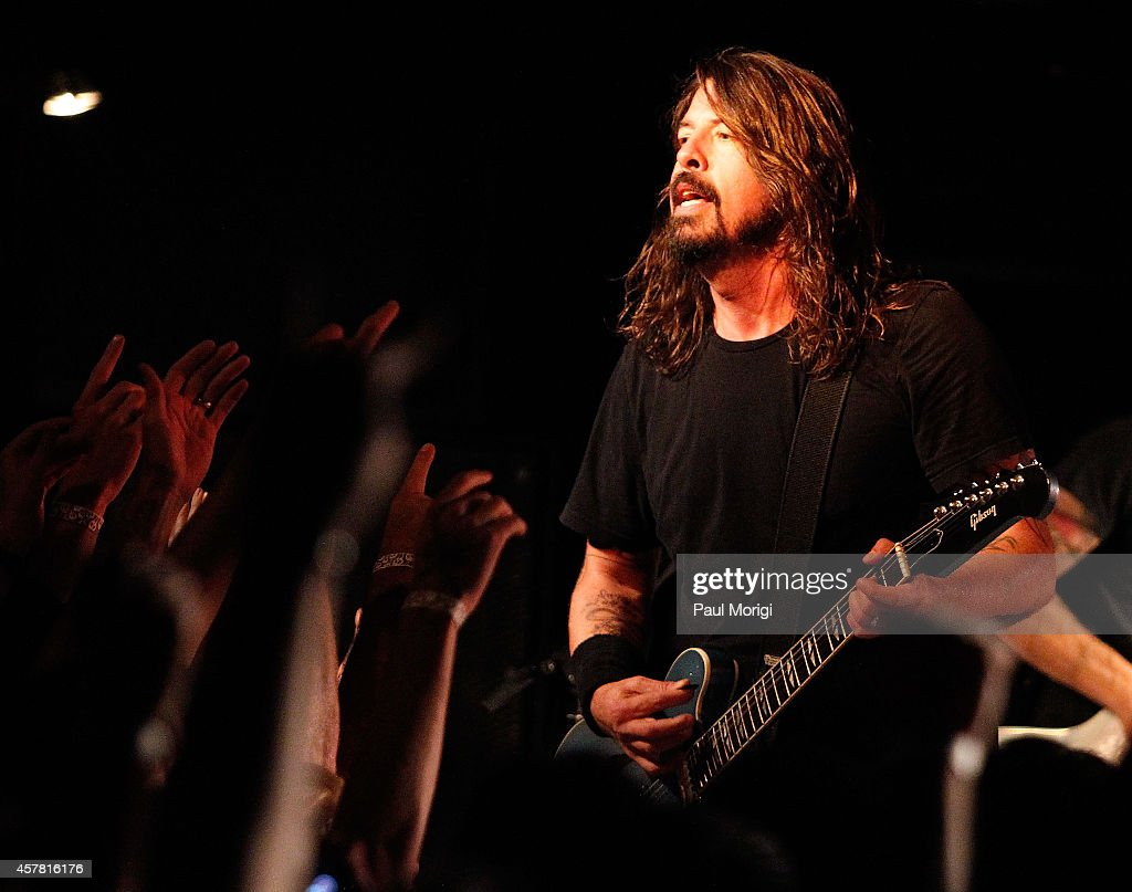 Dave Grohl of the Foo Fighters performs in concert after the 'Foo Fighters: Sonic Highways' screening on October 24, 2014 in Washington, DC.