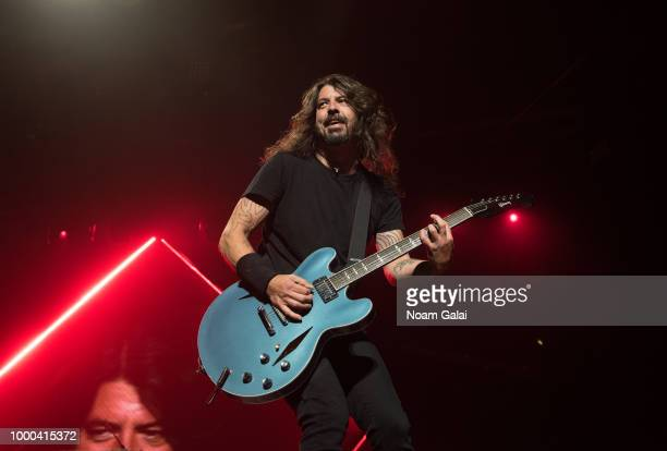Dave Grohl of the Foo Fighters performs in concert at Madison Square Garden on July 16 2018 in New York City