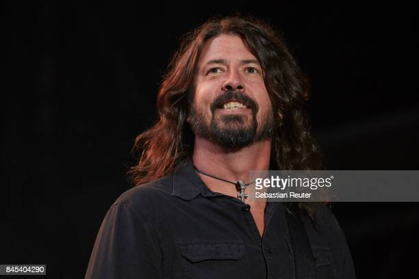 Dave Grohl of the Foo Fighters performs live on stage during the second day of the Lollapalooza Berlin music festival on September 10, 2017 in...