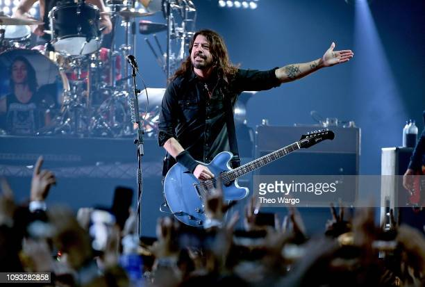 Dave Grohl of the Foo Fighters performs onstage at DIRECTV Super Saturday Night 2019 at Atlantic Station on February 2 2019 in Atlanta Georgia
