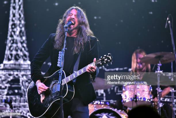 Dave Grohl of the Foo Fighters performs onstage at the 2018 Children's Hospital Los Angeles From Paris With Love Gala at LA Live on October 20 2018...