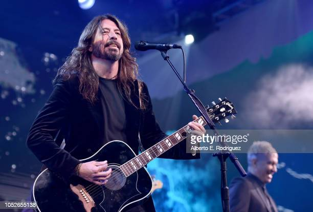 "Dave Grohl of the Foo Fighters performs onstage at the 2018 Children's Hospital Los Angeles ""From Paris With Love"" Gala at LA Live on October 20,..."