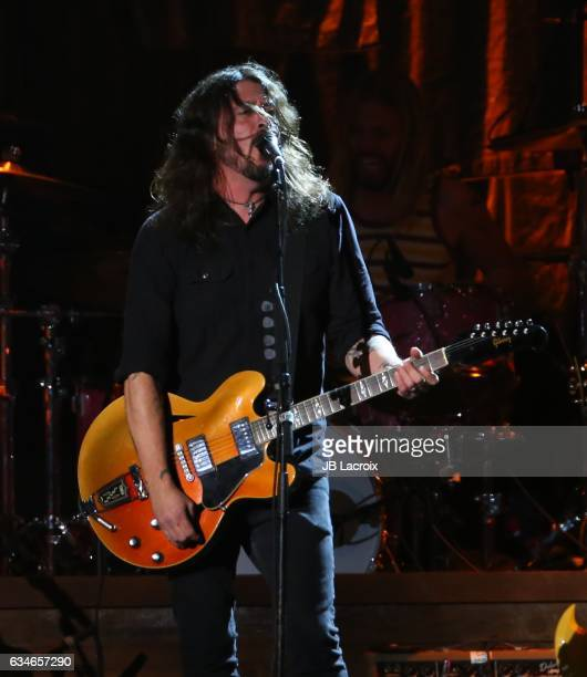 Dave Grohl of the Foo Fighters performs onstage for MusiCares Person of the Year honoring Tom Petty during the 59th GRAMMY Awards at Los Angeles...