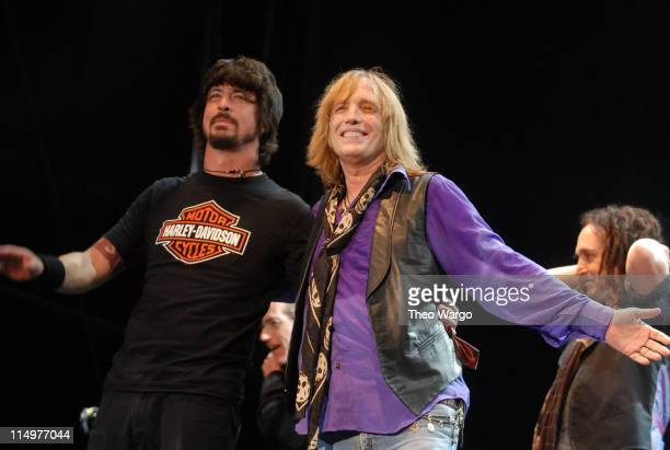 Dave Grohl of the Foo Fighters performs with Tom Petty and the Heartbreakers