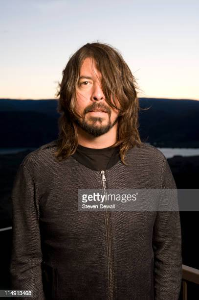 Dave Grohl of the Foo Fighters poses for a portrait backstage at Sasquatch Music Festival at the Gorge Amphitheater on May 27 2011 in George...