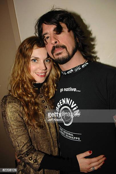 Dave Grohl of The Foo Fighters right and wife Jordan