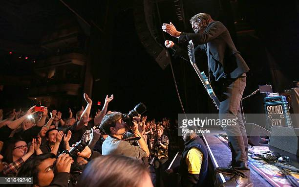 Dave Grohl of the Sound City Players performs at Hammerstein Ballroom on February 13 2013 in New York City