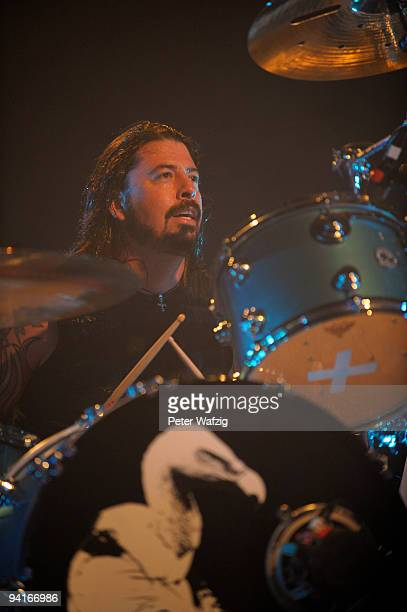 Dave Grohl of Them Crooked Vultures performs on stage at the Palladium on December 08 2009 in Cologne Germany