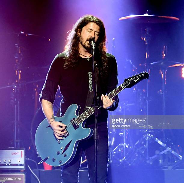 Dave Grohl performs at I Am The Highway A Tribute to Chris Cornell at the Forum on January 16 2019 in Inglewood California