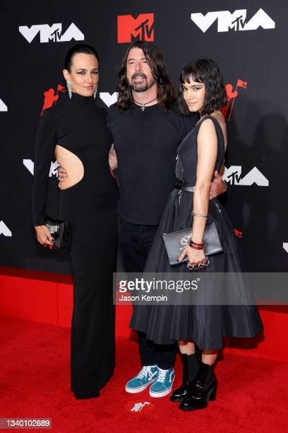 Dave Grohl , Sofia Boutella , and guest attend the 2021 MTV Video Music Awards at Barclays Center on September 12, 2021 in the Brooklyn borough of...