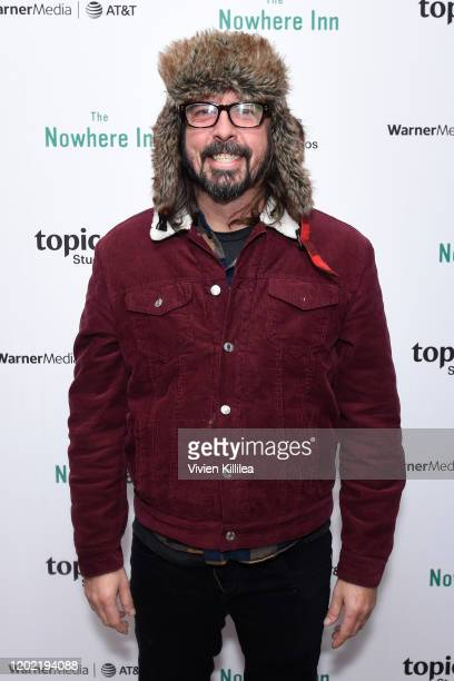 "Dave Grohl stops by ""The Nowhere Inn"" Premiere Party at WarnerMedia Lodge: Elevating Storytelling with AT&T presented by Topic Studios during..."