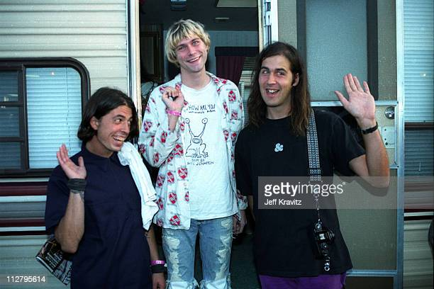 Dave Grohl,Kurt Cobain and Kirst Novoselic of Nirvana
