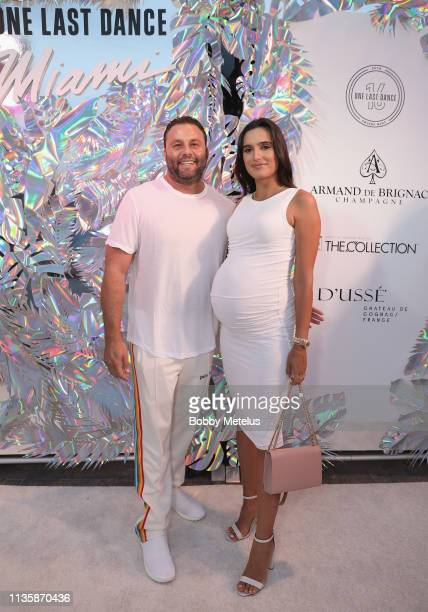 Dave Grutman and Isabela Rangel attend Dwyane Wade's 16 Year NBA Career Celebration Dinner on April 8 2019 in Miami Florida