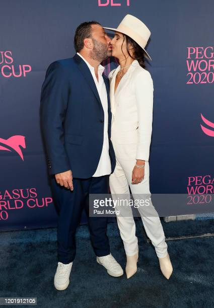 Dave Grutman and Isabela Rangel Grutman attend the 2020 Pegasus World Cup Championship Invitational Series at Gulfstream Park on January 25 2020 in...