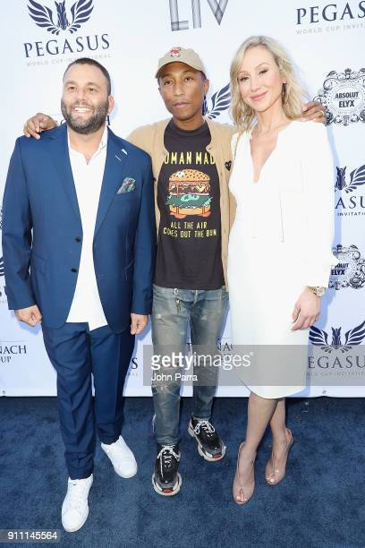 Dave Grutman Pharrell Williams and Belinda Stronach attend The $16 Million Pegasus World Cup Invitational The World's Richest Thoroughbred Horse Race...