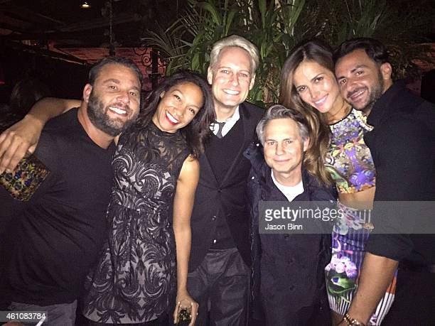 Dave Grutman Stefanie Smith Jackson Adam DuJour Media Founder Jason Binn Natalia Borges and Michael Satsky circa December 2014 in Miami Florida