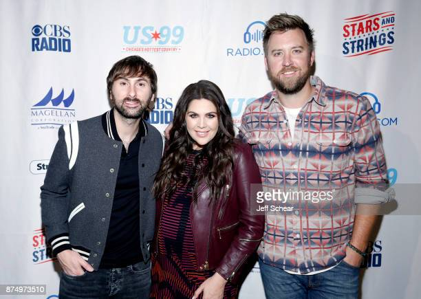 Dave Haywood Hillary Scott and Charles Kelley of Lady Antebellum attend a meet greet for CBS RADIO's Third Annual 'Stars and Strings' Concert to...