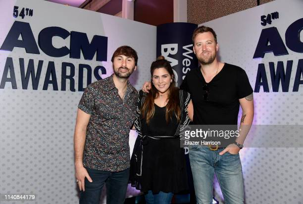 Dave Haywood Hillary Scott and Charles Kelley of Lady Antebellum attend the 54th Academy Of Country Music Awards Cumulus/Westwood One Radio Remotes...