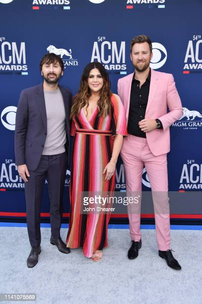Dave Haywood Hillary Scott and Charles Kelley of Lady Antebellum attend the 54th Academy Of Country Music Awards at MGM Grand Hotel Casino on April...