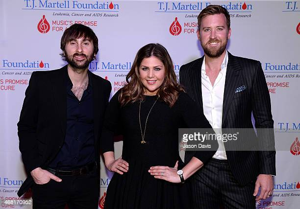 Dave Haywood Hillary Scott and Charles Kelley of Lady Antebellum attend the TJ Martell Foundation's 7th Annual Nashville Honors Gala at Omni Hotel...