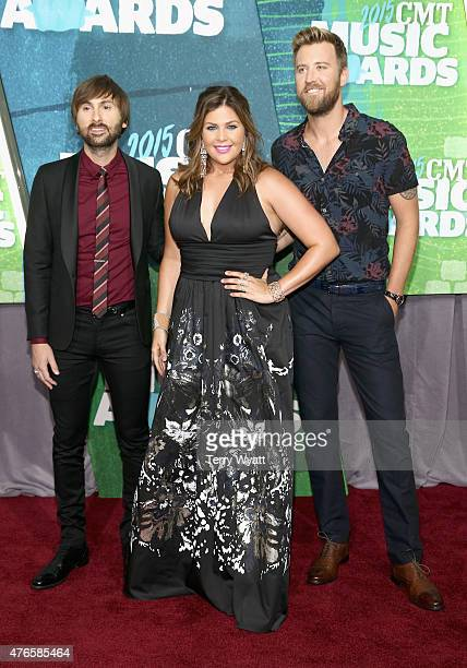 Dave Haywood Hillary Scott and Charles Kelley of Lady Antebellum attend the 2015 CMT Music awards at the Bridgestone Arena on June 10 2015 in...