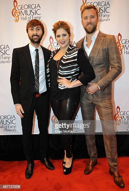Dave Haywood Hillary Scott and Charles Kelly of Lady Antebellum attend the 36th annual Georgia Music Hall of Fame Awards at the Georgia World...