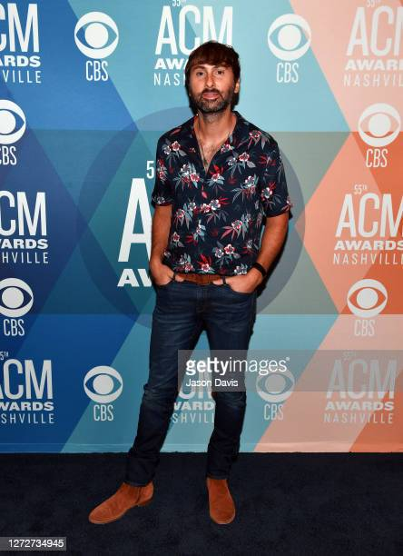 Dave Haywood of Lady A attends virtual radio row during the 55th Academy of Country Music Awards at Gaylord Opryland Resort & Convention Center on...