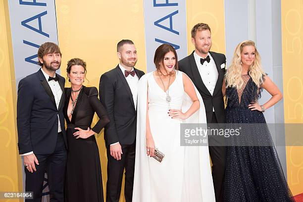 Dave Haywood of Lady Antebellum Kelli Cashiola Chris Tyrrell Hillary Scott Charles Kelley of Lady Antebellum and Cassie McConnell attend the 50th...