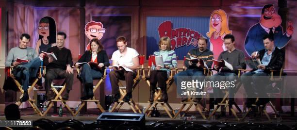 Dave Hemingson, Dee Bradley Baker, Rachel MacFarlane, Scott Grimes, Wendy Schaal, Mike Barker, Matt Weitzman and Seth MacFarlane, creator